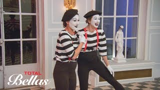Brie and Lauren perform as mimes during Nikki's bachelorette party: Total Bellas, July 22, 2018