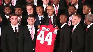 The President Honors the 2015 College Football Playoff National Champion Ohio State Buckeyes