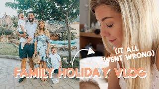 FAMILY HOLIDAY VLOG *IT WENT WRONG!* | KATE MURNANE