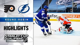 NHL Highlights | Flyers @ Lightning, Round Robin - Aug. 8, 2020