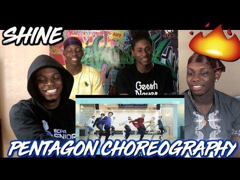 PENTAGON(펜타곤) - '빛나리(Shine)' (Choreography Practice Video) - REACTION