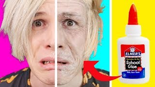 Trying 25 CRAZY MAKEUP IDEAS by 5 Minute Crafts