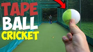TAPE BALL TEST MATCH | CRAZY SWING BOWLING!