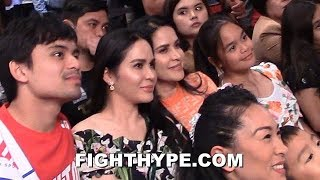 JINKEE PACQUIAO & FAMILY REACT TO PACQUIAO VS. THURMAN WEIGH-IN