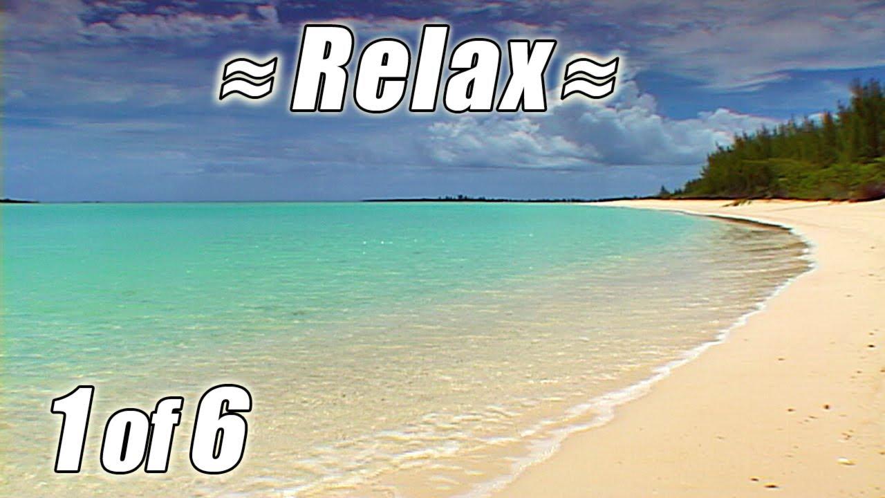 Tropical Island Beach Ambience Sound: BAHAMAS BEACHES #1 Relaxing Tropical Beach Ocean Waves