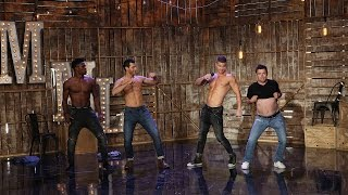 'Average Andy' with the 'Magic Mike Live' Dancers