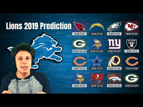Lions 2019 Record PREDICTIONS! Division Champs?! Detroit Lions Talk