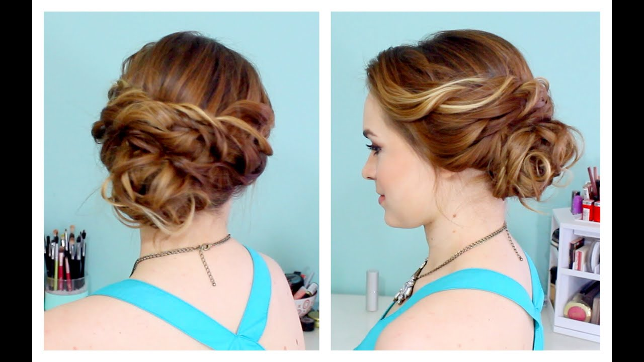 J Hairstyle: Quick Side Updo For Prom! (or Weddings! :D)