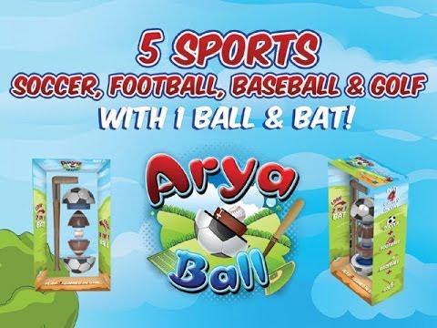 AryaBall's Kickstarter Video: Dad Designs 5-in-1 Ball and Bat