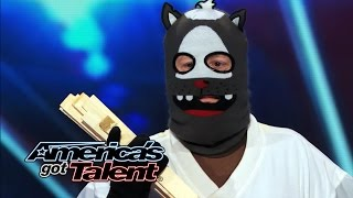 Dustin's Dojo: Howard Stern Uses Golden Buzzer on Karate Kid - America's Got Talent 2014 (Highlight)