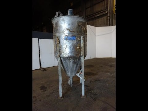 Used- Tank, Approximately 300 Gallon, 304 Stainless steel, Vertical - stock  #48243024