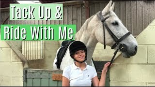 Tack Up & Ride With Me | GoPro Edition | Lilpetchannel