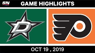 NHL Highlights | Stars vs. Flyers – Oct. 19, 2019