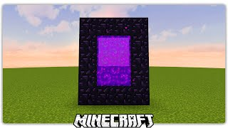 Minecraft Tip: How to Make a Nether Portal in a Superflat World!