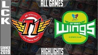 SKT vs JAG Highlights ALL GAMES   LCK Summer 2019 Week 6 Day 2   SK Telecom T1 vs Jin Air Greenwings