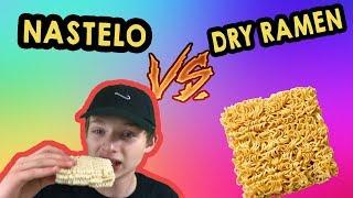 EATING DRY RAMEN!!!