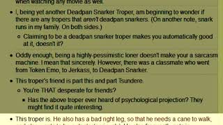 This Troper EP 36: Deadpan Snarker (TV Tropes)