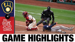 Brewers vs. Cardinals Game Highlights (4/10/21) | MLB Highlights