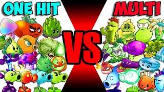 Team ONE-HIT vs MULTI-HIT - Who Will Win? - PvZ 2 Team Plant Vs Team Plant