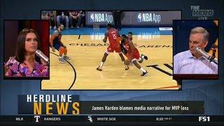 The HERD | Colin Cowherd REACT to James Harden blames media narrative for MVP loss