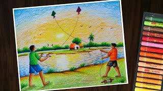 Kite Flying Composition