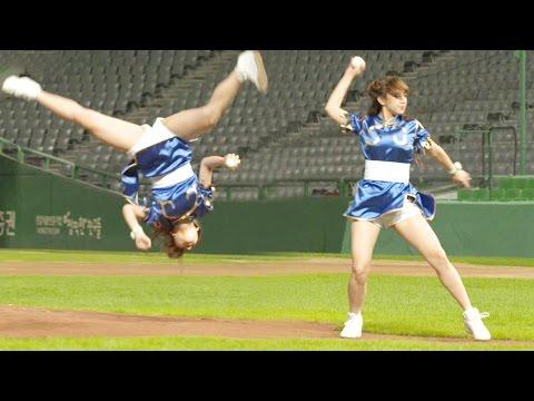 WJSN Cheng Xiao's Tumbling First Pitch!|우주소녀 성소 '공중 360도 회전' 시구 @내일은 시구왕 2부 20160914