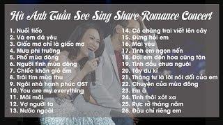 [Full Audio] Những bài hát trong Hà Anh Tuấn Romance Concert 2018