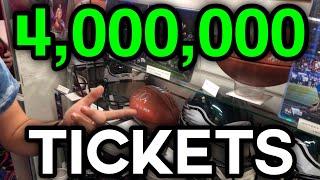 ARCADE TICKET REDEMPTION PRIZE WORTH 4 MILLION TICKETS!! (NOT CLICKBAIT!)
