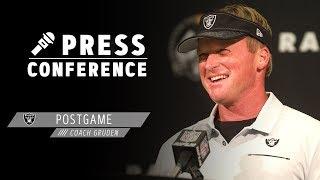 Coach Gruden Postgame Presser - 9.9.19   Raiders