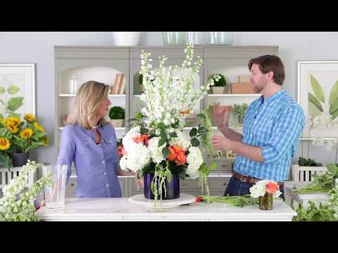How to Use Floral Frogs: Tall and Dramatic Arrangement