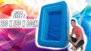 Bể bơi phao ✅ kích thước 210 x 150 x 51cm - Bể bơi bestway