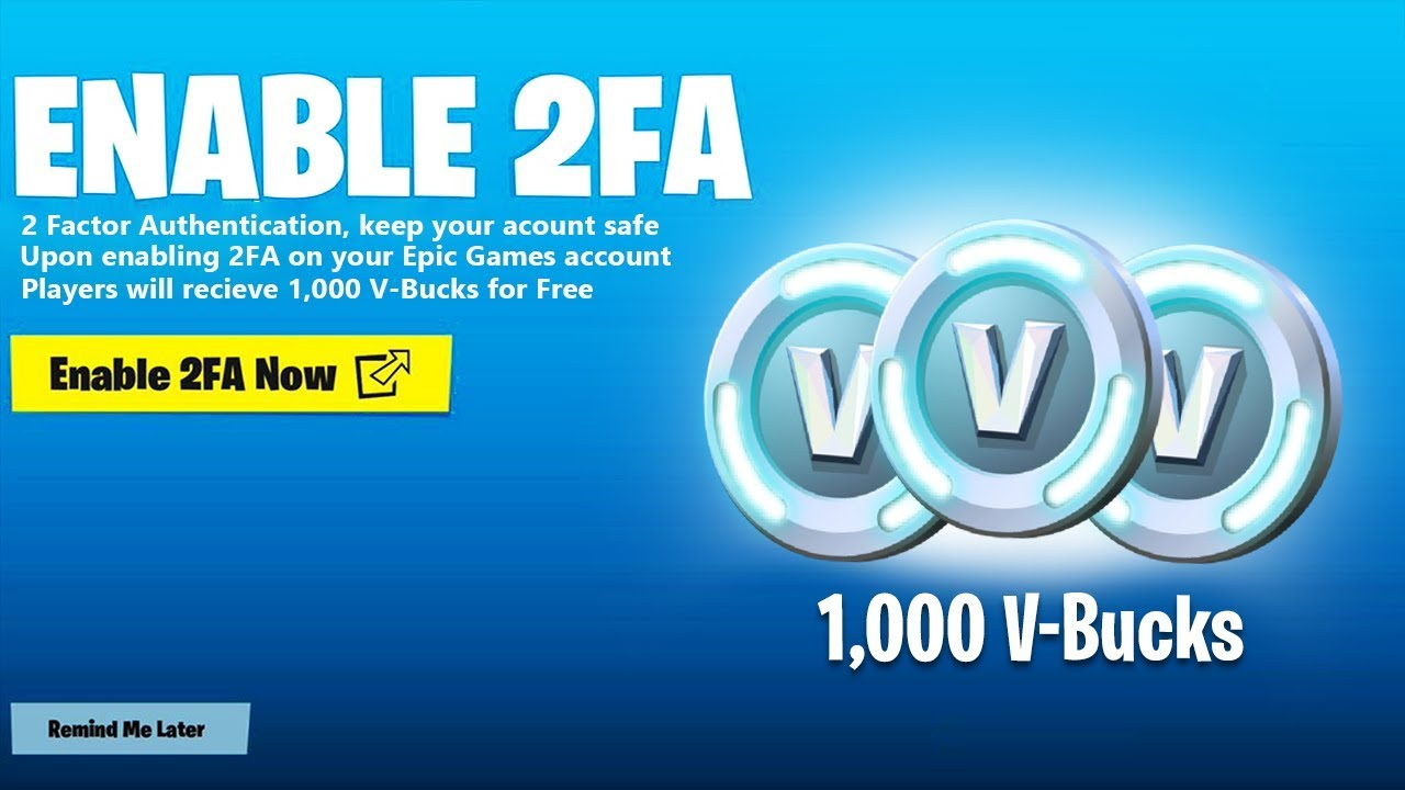 Two factor fortnite | Fortnite 2FA