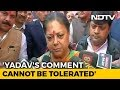 Election Panel Should Act: Vasundhara Raje On Sharad Yadavs Body-Shaming