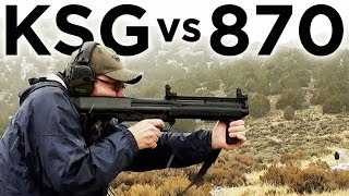 Repeat youtube video Kel-Tec KSG vs Rem 870: Tactical Shotguns Compared