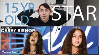 Amazing! Luke Bryan Calls 15-Year-Old Casey Bishop A Massive Star! - American Idol 2021 REACTION