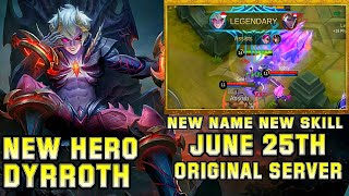 New Hero Dyrroth Gameplay - Mobile Legends Bang Bang