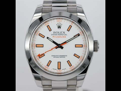 video Rolex Milgauss White Dial – 116400
