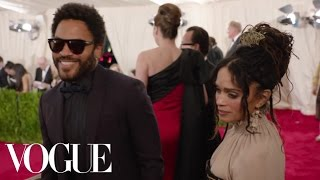 Lenny Kravitz and Lisa Bonet at the Met Gala 2015 | China: Through the Looking Glass