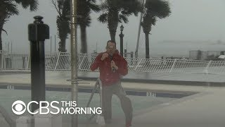 Florence storm surge at about 7 feet in Beaufort, North Carolina