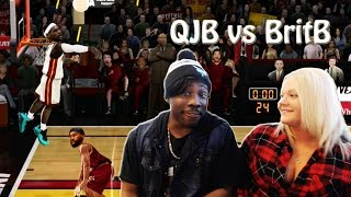 QJB vs BritB Ep. 1 - WILDEST FINISH EVER! She Cheesin With LeBron - NBA Jam on Fire Edition Gameplay