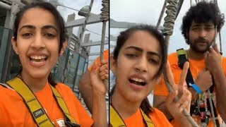 Niharika & Varun Tej enjoy skywalk in Macau..