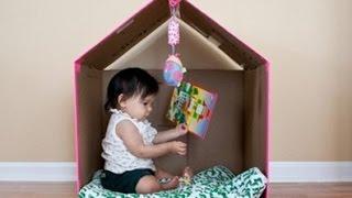 Làm nhà cho bé từ thùng carton - Chỉ tốn 50k