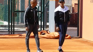 #P1070171 Serena Williams warming up | preparation for Roland Garros 2019
