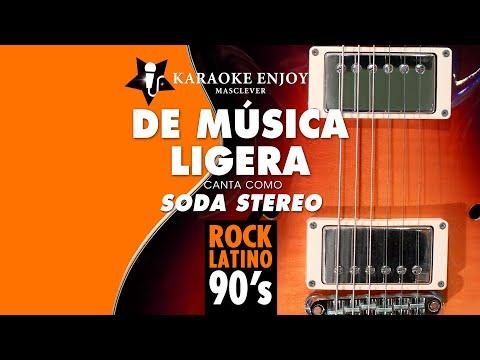 De musica ligera - Soda Stereo (Version cover Karaoke con letra pintada)
