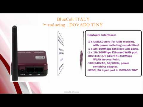 BlueCell ITALY  Launching DOVADO TINY