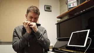 Practicing Brad Mehldau Solo on Chromatic Harmonica