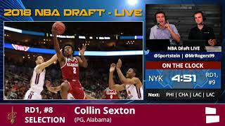 Cleveland Cavaliers Select Collin Sexton From Alabama With Pick #8 In 1st Round Of 2018 NBA Draft