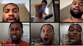 CJ SO COOL and CHRIS SAILS go at it on IG LIVE   HILARIOUS 😂🤣