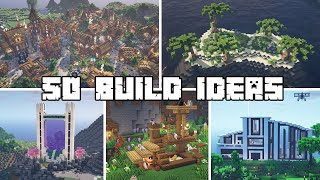 50+ Build Ideas for your Minecraft Survival World!