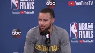 Stephen Curry Kevin Durant & Draymond Green | NBA Finals Game 1 Media Availability
